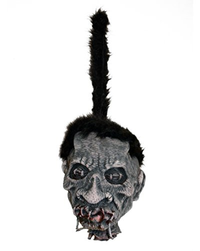 (Large Shrunken Voodo Head Witch Doctor Hanging Halloween Prop 10