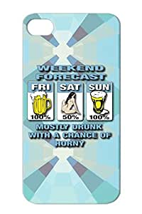 TPU Weekend Forecast For Iphone 4s White Weekends Satire Sex Humor Funny Funny XXX Drinking Shirts Beer Woman Party Case