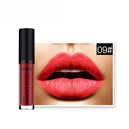 Price comparison product image Aribelly Waterproof Matte Lipstick Long Lasting Lip Gloss Lipstick (9#)