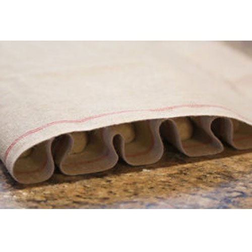 Vollum Baker's Couche Proofing Cloth, 1 Roll 23.5 Inch x 65.5 Feet, 100% Pure French Flax Linen with Red Stripe by Vollum (Image #3)