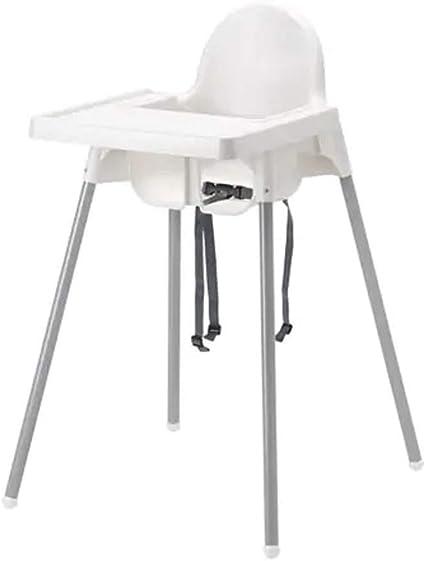 Ikea Antilop Chaise Haute Avec Plateau Couleur Argent Amazon Fr Bebes Puericulture