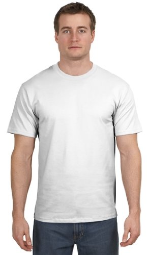Hanes - Authentic Tagless T - 5250 v Hanes Authentic Tagless Tee - T-Shirt , Small, White