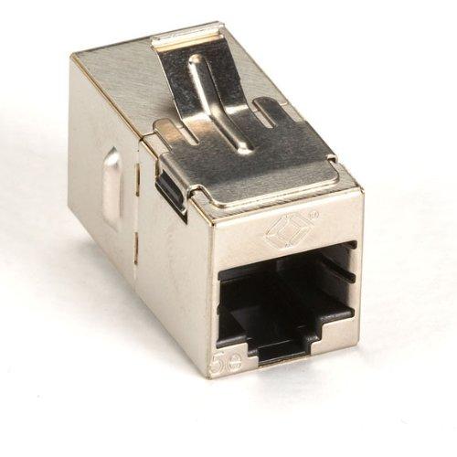 (Black Box Cat5E Shielded Straight-Pin Keystone Coupler Silver 10-Pack)