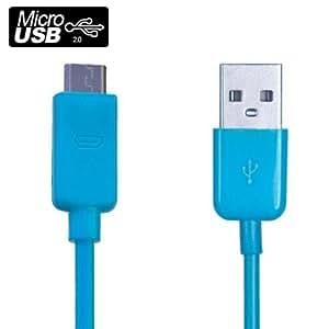 Pcmoviles–-Azul cable de datos Micro-USB para Samsung Galaxy Y S5360