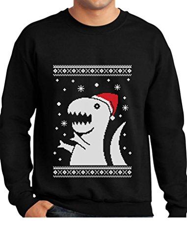 Bad Santa Merry Christmas - TeeStars - Big Trex Santa Ugly Christmas Sweater - Funny Xmas Sweatshirt Large Black
