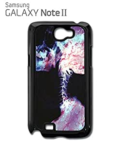 Skeleton Skull Galaxy Mobile Cell Phone Case Samsung Note 2 Black