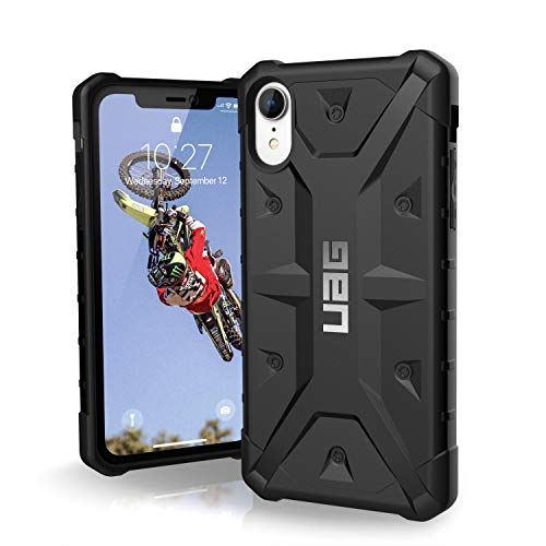 "URBAN ARMOR GEAR UAG iPhone XR [6.1"" Screen] Pathfinder Feather-Light Rugged [Black] Military Drop Tested iPhone Case"