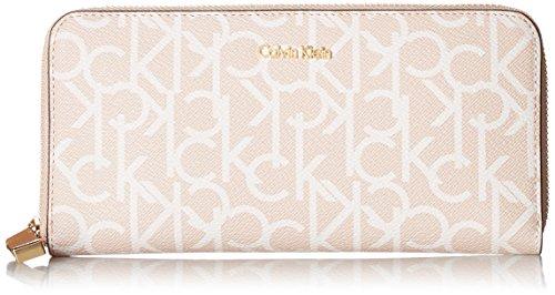 Calvin Klein Signature Zip Around Wallet, Desert Taupe by Calvin Klein