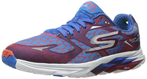 Skechers Performance Men's Go Run Ride 5 Houston 2016 Running Shoe, Red/Blue, 9.5 M US