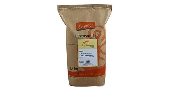 Harina de Espelta orgánico mediano 3 x 2,5 kg Tipo 1050: Amazon.es: Hogar