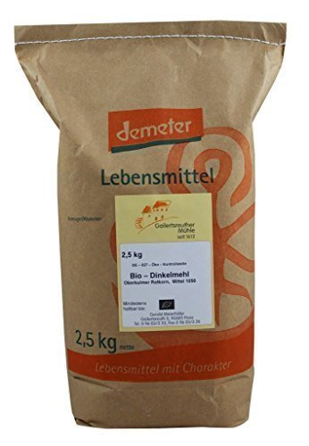 Harina de Espelta orgánico mediano 3 x 2,5 kg Tipo 1050