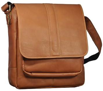 David King /& Co One Size Laptop Messenger with Front Gusset Pocket Cafe