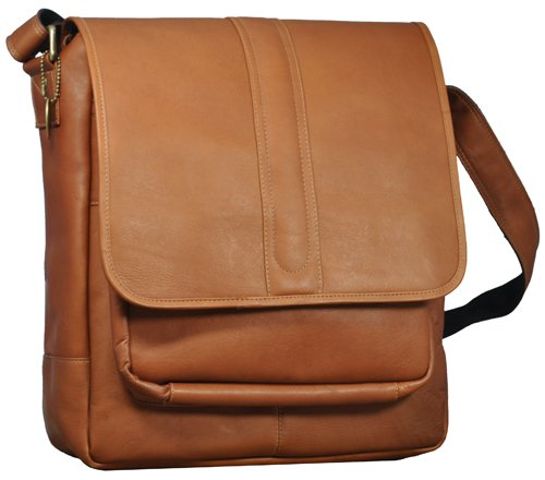 David King & Co 155T Laptop Messenger with Front Gusset Pocket- Tan B0044T0TLS