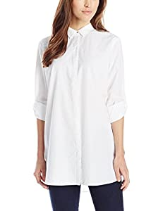 MiH Jeans Women's Oversize Button Up Shirt, White, Large