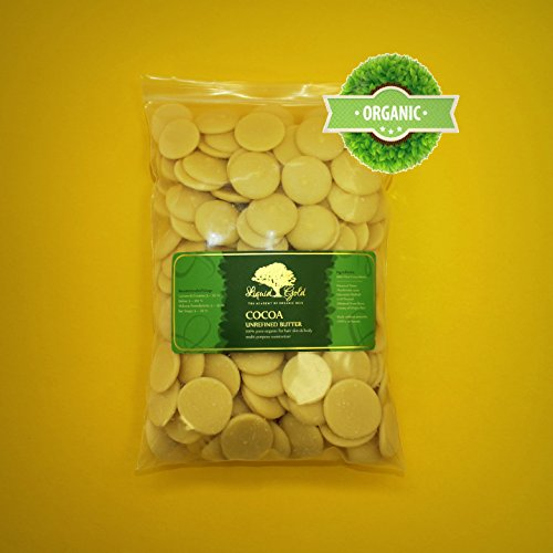 8 LB Premium Raw Cocoa Butter Unrefined 100% Natural Pure...