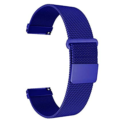 ECSEM Replacement Metal Bands Watch Straps - Choice of Color & Width (20mm) - Premium Strong Milanese Loop Watch Bands, (Magnetic)
