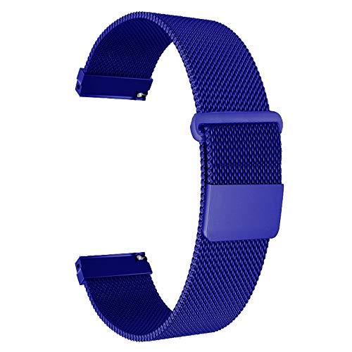 Replacement 22mm Metal Milanese Loop Watch Straps Wrist ...