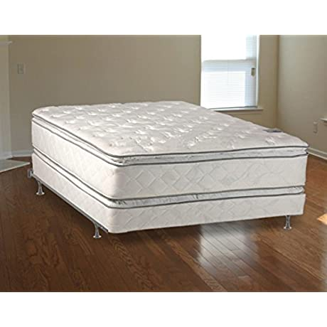 Medium Plush Pillowtop Orthopedic Type Double Sided Mattress And Box Spring And 5 Inch Box Spring