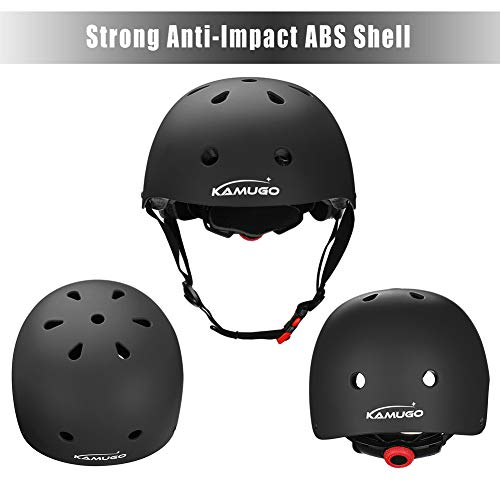 CPSC Certified for Safety with Knee Elbow Wrist Pads for Age 3-8 Years Toddler Boys Girls KAMUGO Kids Adjustable Helmet for Bike Skateboard Hoverboard Cycling Scooter Rollerblading
