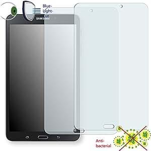 2 x Película de protección de pantalla DISAGU ClearScreen para Samsung Galaxy Tab 4 8.0 antibacterial, filtro BlueLightCut película de protección