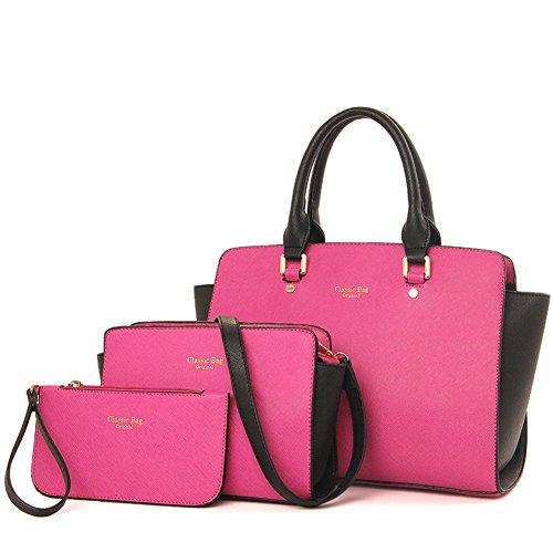 Recurvo Mujeres bolsa Xagoo de cuero del hombro del bolso de las señoras y conjunto del bolso (Estilo 1) Estilo 1
