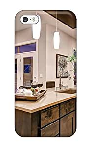 Fashionable Style Case Cover Skin For Iphone 5/5s- Kitchen With Brown Cabinets Amp Wall Mounted Oven