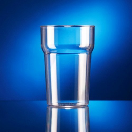 10 x Plastic Rigid Reusable Event Pint Glasses BB Plastics