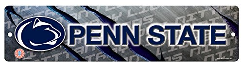 Lions Street Sign - Rico NCAA Penn State Nittany Lions 16-Inch Plastic Street Sign Décor