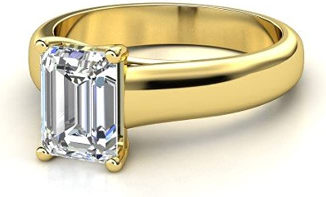 1.10 Cts White Cubic Zirconia Diamonds Mens Button Ring in 14k Yellow Gold Finish