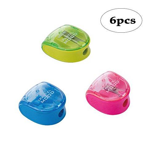 BinaryABC Back to School Supplies,Plastic Pencil Sharpener, Manual Pencil Sharpener,Handheld Pencil Sharpener, Mini Pencil Sharpener,Random Color -
