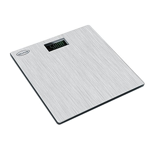 [Digital Bathroom Scale, HILLPOW 440lb/200kg Body Weight Bathroom Scale, Elegant Silver 8mm Tempered Glass, Step-On Technology, High Precision, Extra Large Lighted] (Animals That Begin With E)