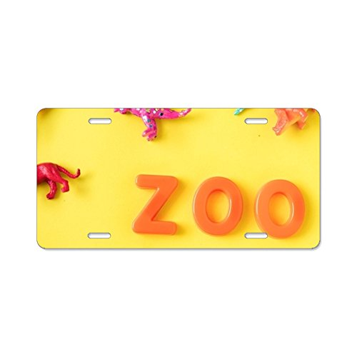 Elvira Jasper Fashion Design Cool Plate Tag Animals Assorted Background Car License Plate With 4 Holes - 12