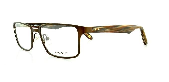 MARCHON Eyeglasses M-NATE 210 Antique Brown 53MM at Amazon Men\'s ...