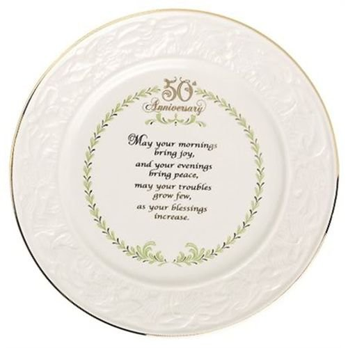 Belleek Plate Irish Blessing (Belleek 8.6-Inch Plate, 50th Anniversary)