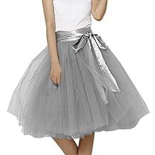EllieHouse Women's Short Tutu Tulle Skirt With Sash PC06