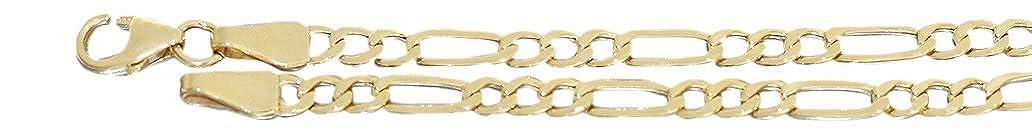 Hobra-oro 50/55/60/19 cm - figaro catena oro 333 oro catena bracciale collana oro