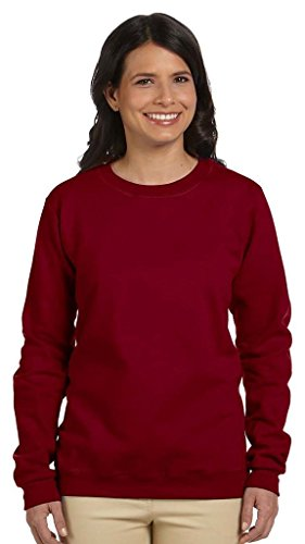 GILDAN - Camiseta de manga larga - Asimétrico - para mujer Garnet