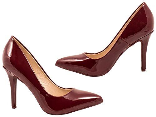 femmes Classique Chaussures talons dentelle dentelle Classique soirée femmes vin escarpins hauts TAaq1x