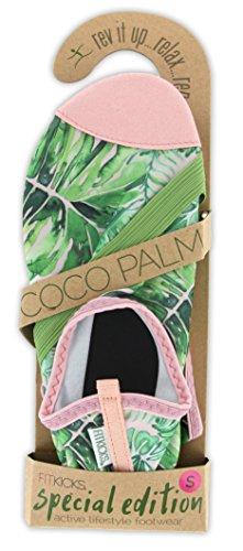 Fitkicks Chaussures flexibles pour ballet yoga voyages Chaussures d'eau Coco Palm 9PItYbJnS0