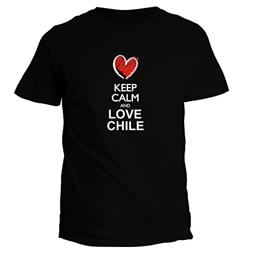 Idakoos Keep Calm and Love Chile chalk Style - Countries - T-Shirt