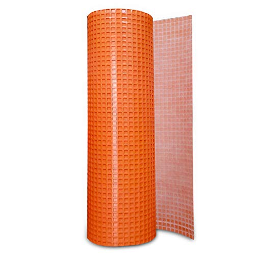 Uncoupling Membrane 3.3 feet x 45.9 feet / 150 Square Feet - Tile Underlayment Mat - Waterproofing, Anti-Fracture, Crack Isolation Membrane (1/8 inch Thick)