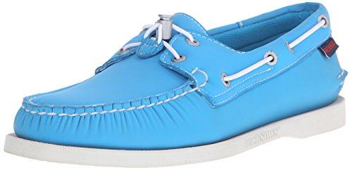 Sebago Men's Dockside Neoprene Boat Shoe, Aqua Blue Neoprene, 9.5 M US