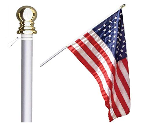 Grace Alley Flag Pole: 6 Foot Tangle Free Spinning Flag