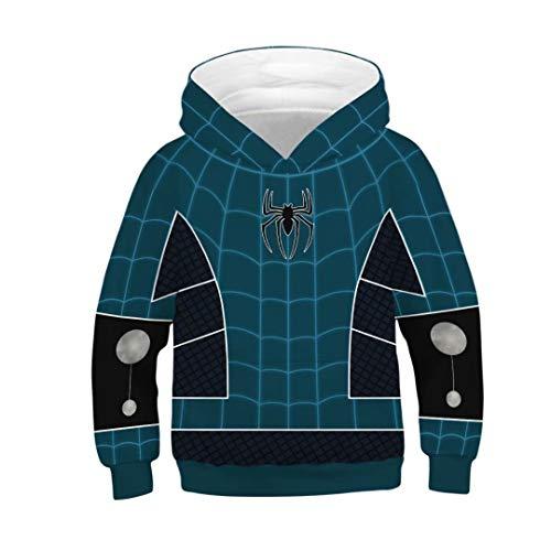 Tsyllyp Kids Superhero Spiderman Boys Girls Hoodies Sweatshirt