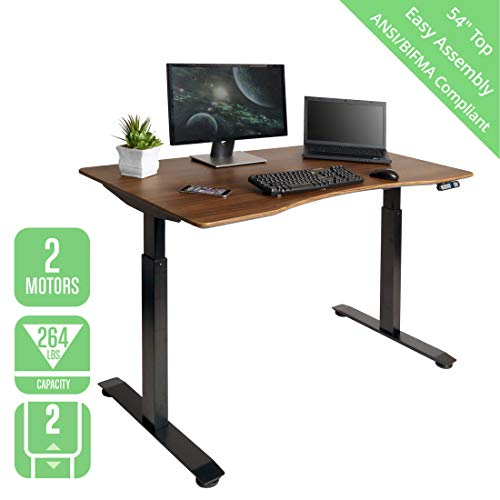 Seville Classics OFFK65824 Airlift S2 Electric Standing Desk with 54