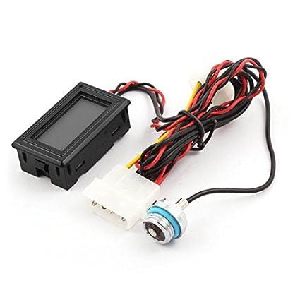 eDealMax retroiluminación LED sellado cerradura del tapón del extremo conector de G1 / 4 pulgadas de