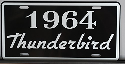 METAL LICENSE PLATE 1964 64 THUNDERBIRD T-BIRD T-bird Convertible