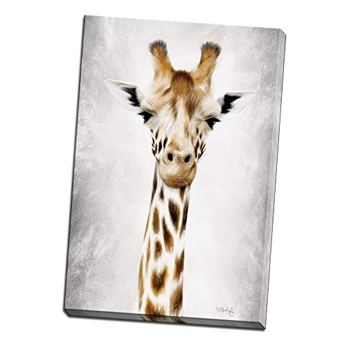 Geri The Giraffe Up Close Printed on 20x30 Canvas Wall Art by Pennylane