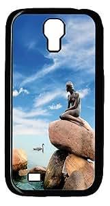 Little Mermaid Statue Copenhagen Denmark Case Cover for Samsung Galaxy S4 / SIV / I9500 - PC - Black