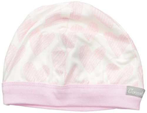 Hearts Jersey Knit Cotton Modal Cap, Pink Hearts, 9-12 Months ()